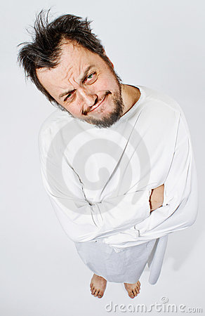 Free Insane Man In Strait-jacket Royalty Free Stock Image - 23099546