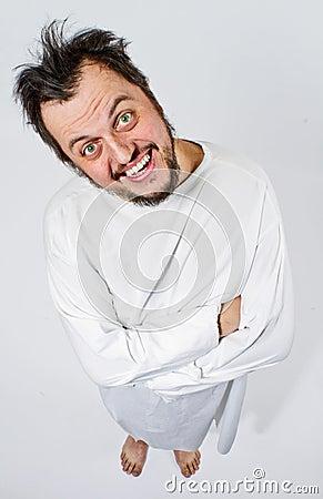 Insane Man In Strait-jacket Stock Photos - Image: 23099753