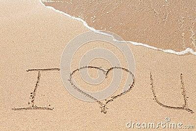 Inscription on the beach