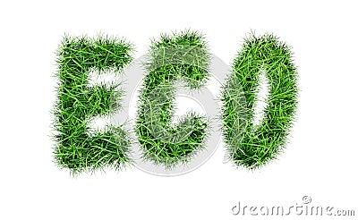 Inscription `ECO` Stock Photo