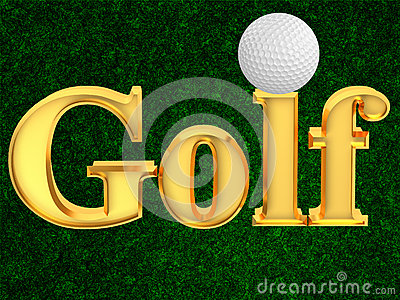 Inscription golf with ball