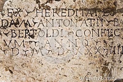 Inscription on plaque
