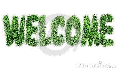 The inscription `Welcome` Stock Photo