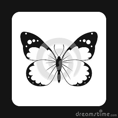 Free Insect Butterfly With Big Wings Icon, Simple Style Royalty Free Stock Images - 127295649