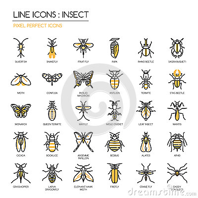Free Insect , Pixel Perfect Icon Stock Photos - 72001073