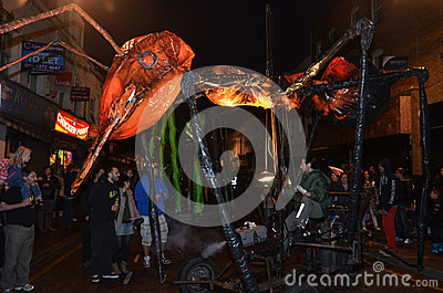 Insectes Down Roman Road At the Greenwich and Docklands International Festival 23rd June 2012 Editorial Stock Image