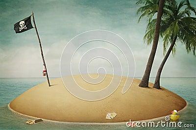 Insel, Piraten, Abenteuer und Meer