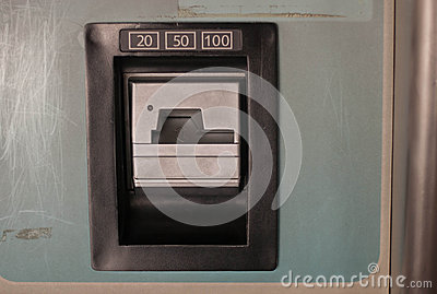 Insert Coin Slot 20 50 100 In Quarters Stock Photo Image