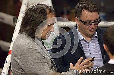 A. Inshakov gives autograph Editorial Photo