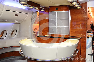 Inside of airbus A380