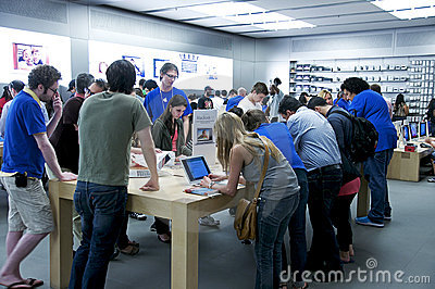 Inside The Apple Store - Fifth Avenue, NYC Editorial Stock Image