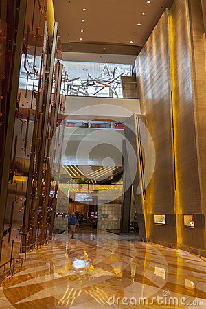 Inside Aria Hotel in Las Vegas, NV on August 06, 2013 Editorial Photo