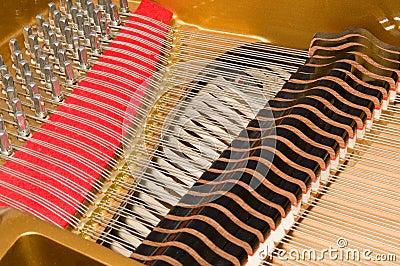 Inside Baby Grand Piano