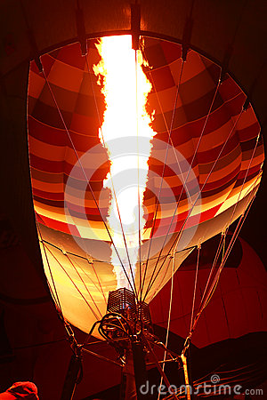 Inside balloon being inflated