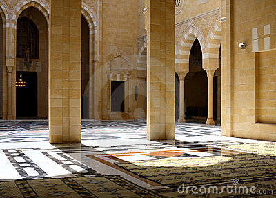 Inside Beautiful Mosque, Lebanon