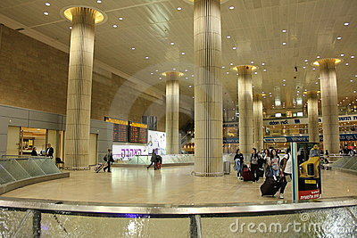Inside Ben Gurion Airport Editorial Image