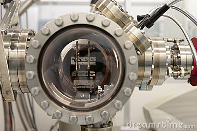 Inside a chemical beam epitaxy reactor