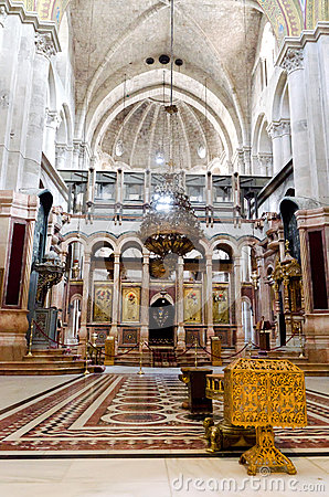 Inside Church of the Holy Sepulchre Editorial Stock Photo