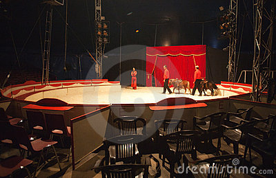 Inside circus tent Editorial Image