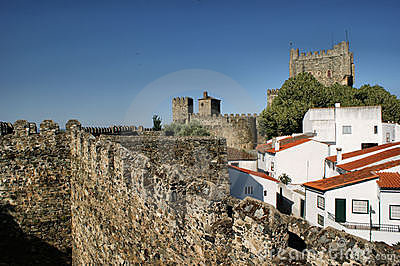 Inside Braganca citadel, North of Portugal
