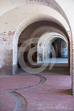 Inside a civil war fort