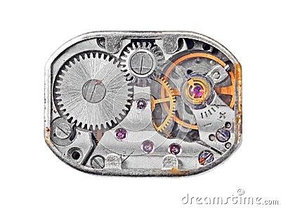 Inside the clock (clockworks)
