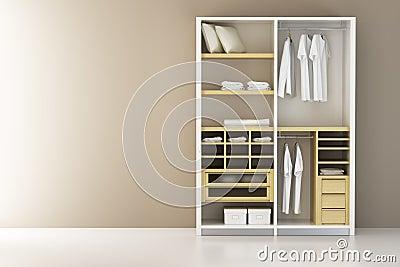 Inside the closet 3d rendering