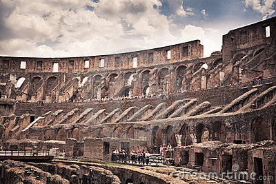 Inside Colosseum Editorial Photo