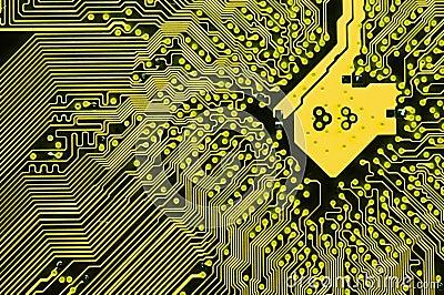 Inside a computer circuit