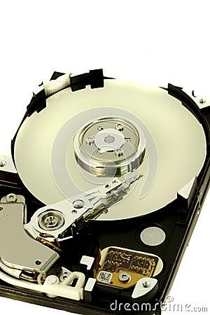 Inside a computer harddisk