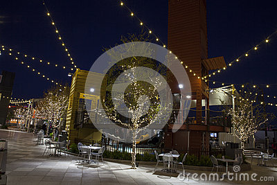 Inside Container Park in Las Vegas, NV on December 10, 2013 Editorial Image