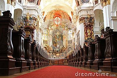 Inside Durnstein Abbey (Stift Durnstein), Austria