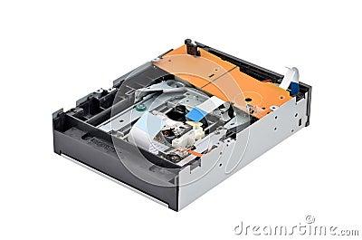 Inside dvd disk drive