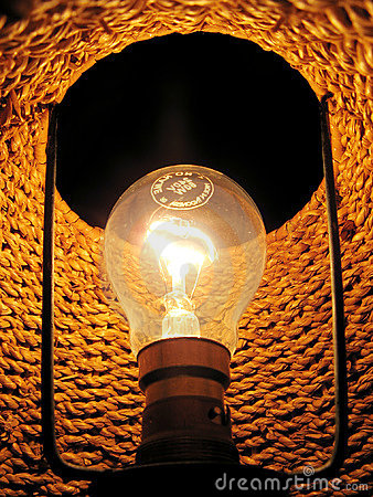 Inside of electric lamp
