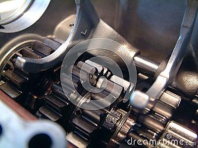 Inside engine Stock Photo