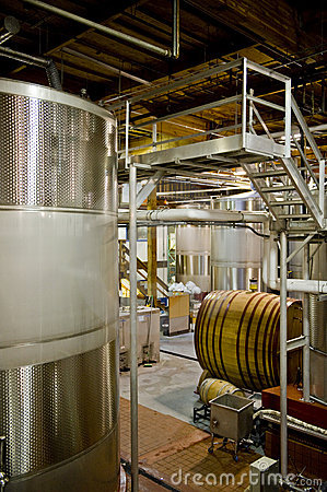 Inside of a French Winery