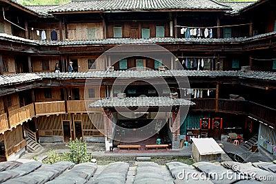 Inside of Fujian Tulou