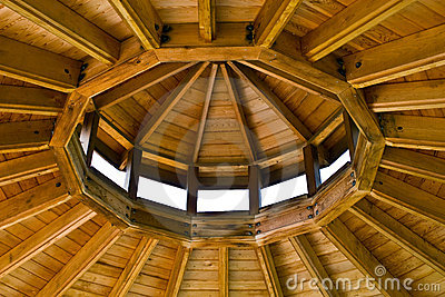 Inside Gazebo Roof Stock Photography Image 5790972