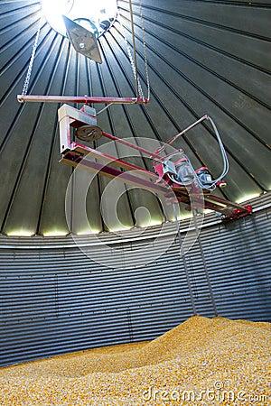 Inside a Grain Silo