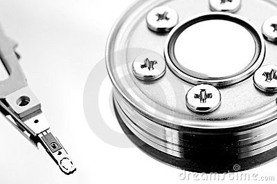 Inside hard disk drive