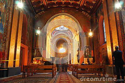 Inside the historical The Armenian Catthedral Editorial Stock Image