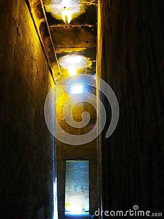 Inside Horus Temple at Edfu