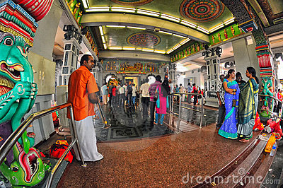 Inside an Indian Temple in Singapore Editorial Image