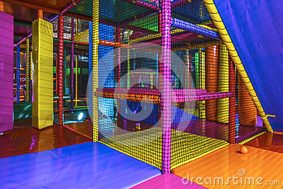 Inside an Indoor playground arena Stock Photo