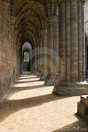 Inside Kirkstall Abbey, Leeds, West Yorkshire