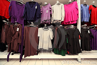 Inside  large women clothing store