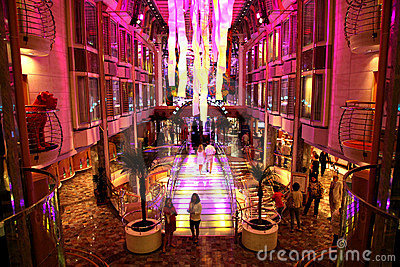 Inside Liberty of the Seas Cruiseship. Editorial Photography