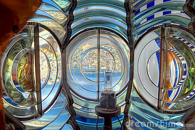 Inside of the lighthouse lantern