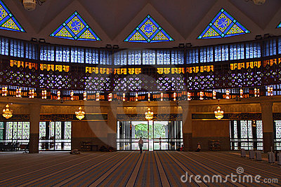 Inside Malaysia National Mosque