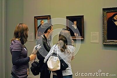 Inside the MET  Art Gallery, New York City USA Editorial Stock Image